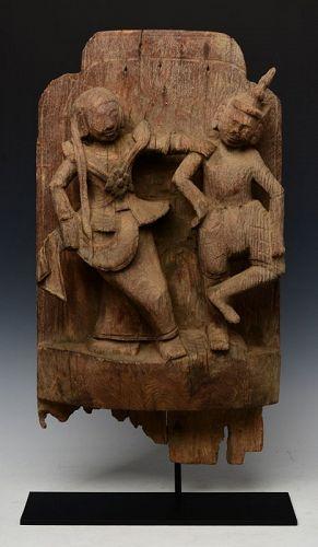 18th Century, Shan, Burmese Wooden Figure Carving