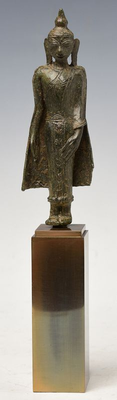 16th Century, Shan, Burmese Bronze Standing Buddha