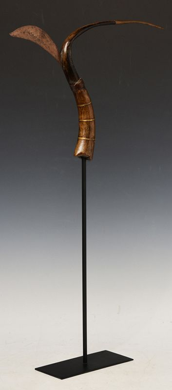 20th Century, Cambodia Rice-Cutting Buffalo Horn Tool