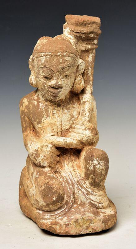 16th Century, Ava, Burmese Sandstone Seated Figure