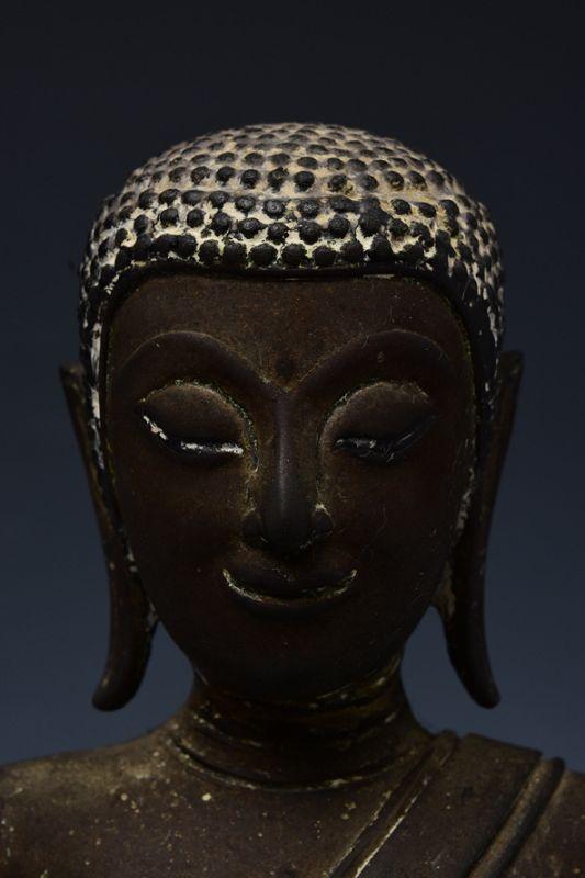 17th Century, Ayutthaya, Thai Bronze Seated Disciple