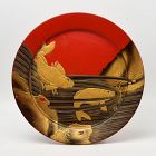 Mid-20th Century, Showa, Large Japanese Lacquered Tray