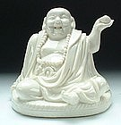 19th Century, Qing Dynasty, A Blanc De Chine Model of Laughing Buddha