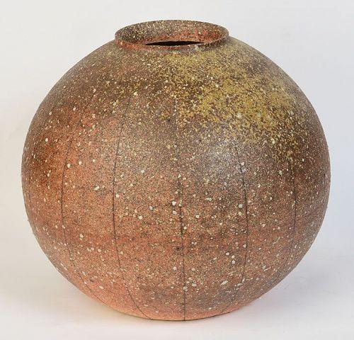 20th Century, Showa, Japanese Ceramic Globular Vase