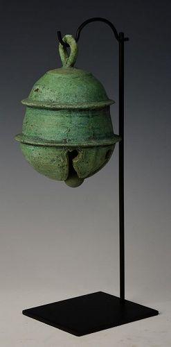 12th Century, Angkor Vat, Khmer Bronze Elephant Bell