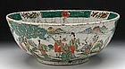 A Qing Bowl with Landscape Scenes