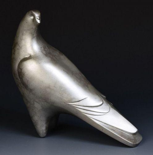 Early 20th Century, Showa, Japanese Bronze Bird