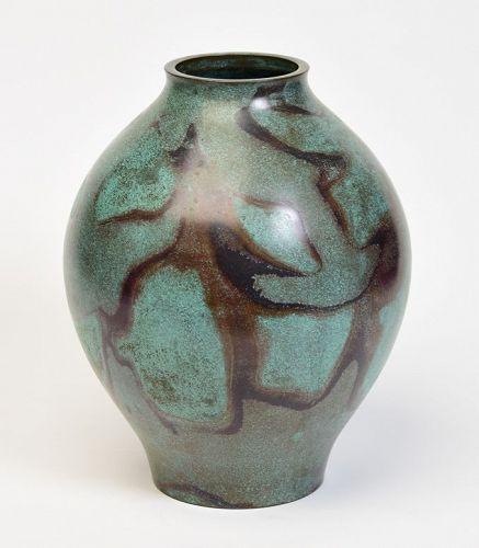 Mid 20th Century, Showa, Japanese Bronze Vase