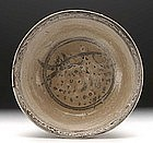 A Sukhothai Iron Black Underglaze Fish Bowl.