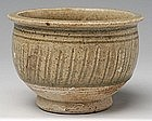 Sukhothai Celadon Jar with Fluting Design
