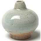Sukhothai Celadon Globular Oil Jar