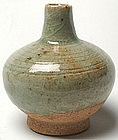 Sukhothai Celadon Oil Jar of Globular Form