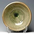 Nice Sukhothai Celadon Dish with Encircle Band