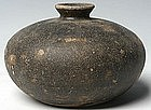 Khmer Honey Pot Brown-glazed w/ Plain Decoration