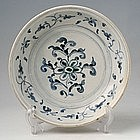 Hoi An Blue and White Floral Motif Dish