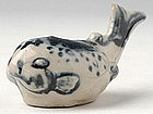 Vietnamese Blue & White Water Dropper in Fish-Shaped