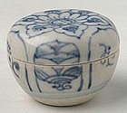 An Hoi An  Blue and White Covered Box  w/Decoration