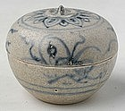 An Hoi An Blue and White Persimmon Shaped Covered Box