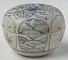 An Hoi An Blue and White Glazed Covered Box
