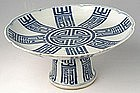 Qing Blue and White Tazza with Shou Symbol