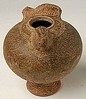 A Khmer Brown Glazed Lime-Pos, in Bird Form