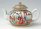 Chinese Export Rose Medallion Circular Teapot