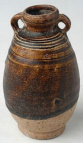 Sukhothai Brown Glazed Bottle