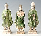 Ming Dynasty, A Set of Chinese Pottery Court Men