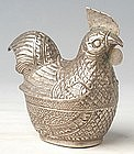 19th Century, Khmer Cock-Shaped Silver Box