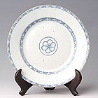 18th century Chinese Export Blue and White Plate