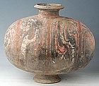 Han Dynasty Large Pottery Cocoon Jar