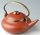 Chinese Qing Dynasty Big Red Clay Teapot