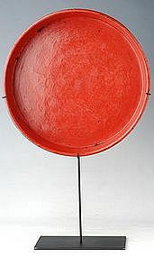 19th Century, Burmese Lacquerware Offering Tray