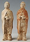 Northern Wei Dynasty, Chinese Painted Pottery Lady