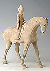 Tang Dynasty Pottery Rider on Horse with OXFORD Test