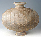Han Dynasty, Very Large Chinese Pottery Cocoon Jar