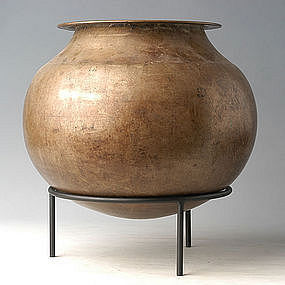 19th Century, Burmese Bronze Jar