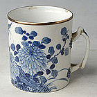 Chinese Export Blue and White Butterfly Mug