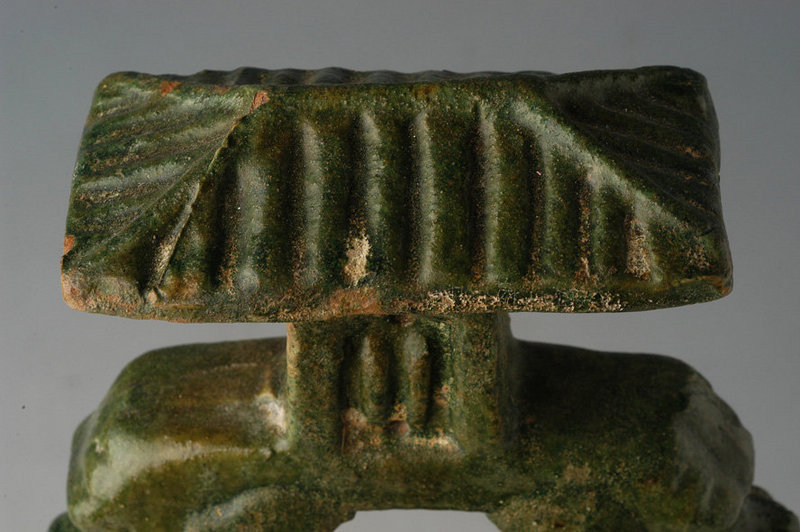 Han Dynasty, Chinese Pottery Well with Dragon Heads