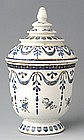 Chinese Export Thai-Formed Blue and White Covered Bowl