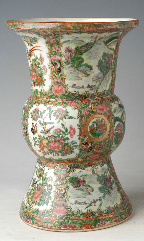 Chinese Export Famille Rose Baluster Vase