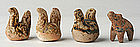 Miniature Sukhothai Pottery Rooster and Elephant
