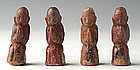 19th C., Rare Miniature Burmese Pottery Disciples