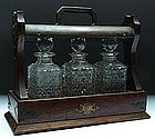 A Set of French Cut Crystal Decanters w/ Stand