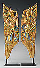 A pair of Burmese Mandalay Gilded Wooden Nats