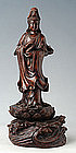 Chinese Carved Wooden KuanYin