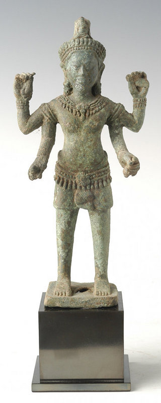 Khmer Bronze Figure of Bodhisattva Avalokiteshvara