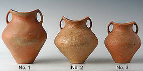 Small Chinese Siwa Culture Pottery Amphoras