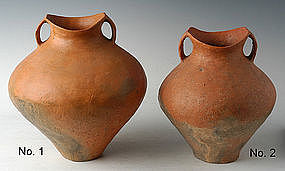 Chinese Siwa Culture Pottery Amphoras