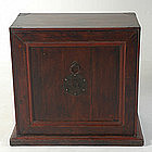 19th Century, Chinese Wooden Shanxi Book Chest